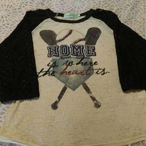 Southern Grace baseball shirt